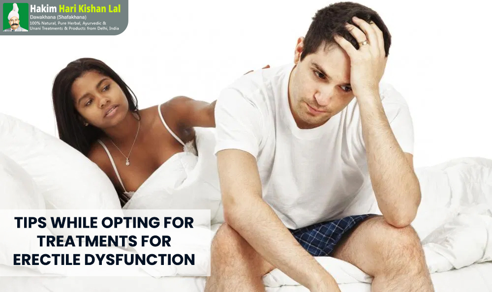 Tips while opting for treatments for erectile dysfunction